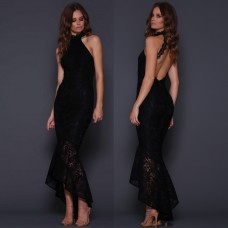 Elle Zeitoune Mirabelle Lace Gown in Black