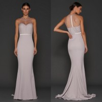 Elle Zeitoune Wyatt Evening Gown Silver