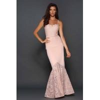 Elle Zeitoune Tina Blush Pink Gown