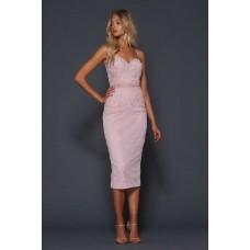 Elle Zeitoune Janus Midi Corset Dress Pink