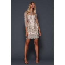 Elle Zeitoune Liberty Mini Lace Dress Gold