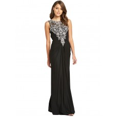 Forever Unique Beaded Ariel Maxi Dress Black