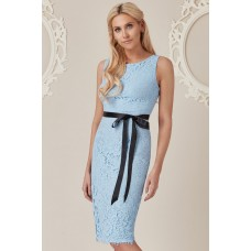 Stephanie Pratt For Goddiva Lace Dress Blue