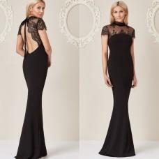 Stephanie Pratt For Goddiva Low Back Gown Black