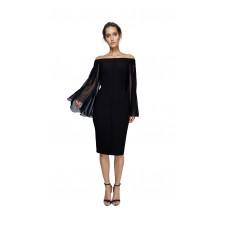 Joe's Jungle Darcy Midi Flared Sleeve Dress Black
