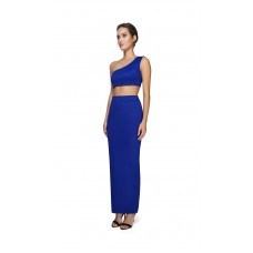 Joe's Jungle 2-Piece Maxi Skirt Crop Top Blue