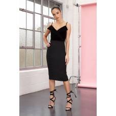Joe's Jungle Estelle Midi Dress Black