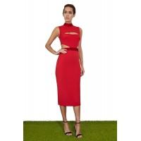 Joe's Jungle Macy Midi Dress Red