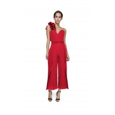 Joe's Jungle Corset Culotte Jumpsuit Red