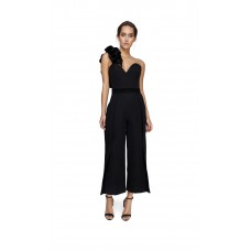 Joe's Jungle Corset Culotte Jumpsuit Black