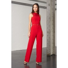 Joe's Jungle Riley Red Jumpsuit