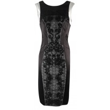Karen Millen Lace Panelled Pencil Dress Black