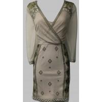 Karen Millen Luxe Metallic Shift Dress Gold