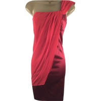 Karen Millen Draped One Shoulder Dress Red