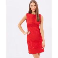 Karen Millen Lace Shift Dress Red