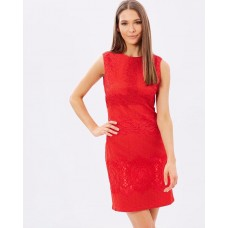 Karen Millen Lace Shift Dress Red