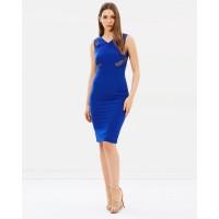 Karen Millen Lace Panel Pencil Dress Blue