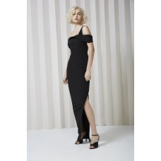 Keepsake Shooting Star Black Maxi One Shoulder Gown