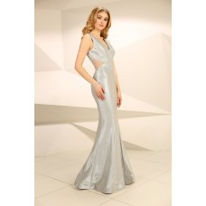 Nataliya Couture Dress Abigail Gown in Silver