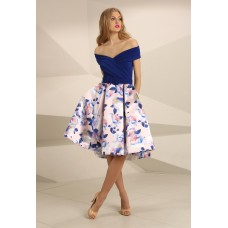 Nataliya Couture Nancy Floral Dress Blue Multi