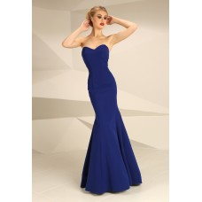 Nataliya Couture Dress Natasha Strapless Ball Gown Royal Blue