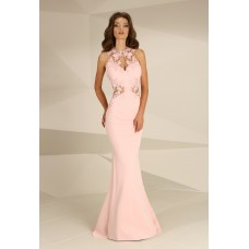Nataliya Couture Dress Ava Lace Jersey Gown Pink