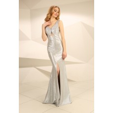 Nataliya Couture Dress Caitlin Gown in Silver