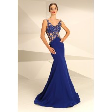 Nataliya Couture Daisy Gown Royal Blue