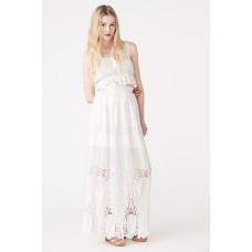 Ukulele Joanna Maxi skirt White