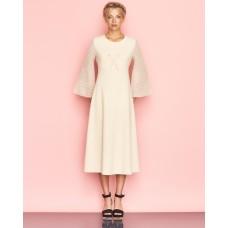 Ukulele Aurelia Midi Dress Beige