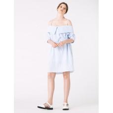 Ukulele Katya Off Shoulder Dress Blue