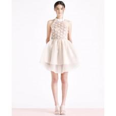 Ukulele Aurora Organza Dress Champagne
