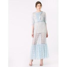 Ukulele Cassandra Lace Maxi Dress Blue