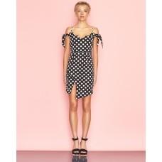 Ukulele Edie Dress Polka Dot Black
