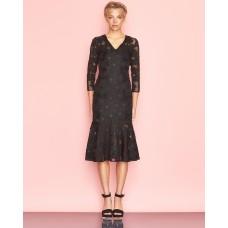Ukulele Delphin Floral Dress Black