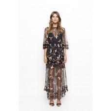 Alice McCall Marigold Maxi Dress Black Sugar Plum