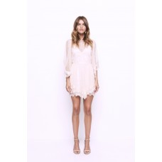 Alice McCall Lucky Charm Spotted Lace Dress Ballet Pink