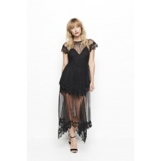 Alice McCall Slow Dance Sheer Lace Maxi Dress Black