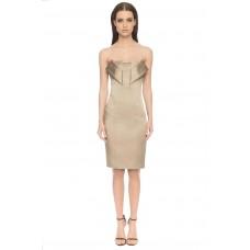 Aloura London Angel Satin Dress Gold