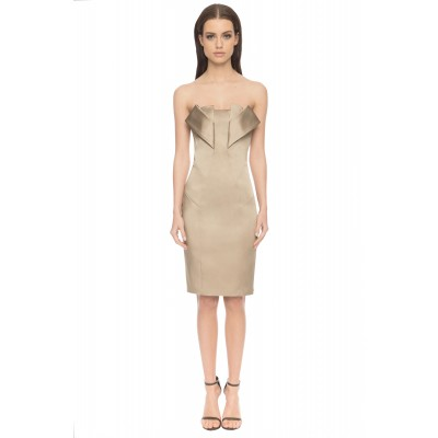 Aloura London Angel Satin Dress Gold