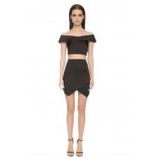 Aloura London Bloomsbury 2 Piece Skirt / Top Black