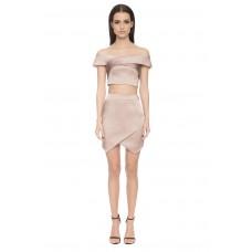 Aloura London Bloomsbury 2 Piece Skirt / Top Pink