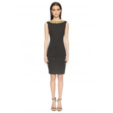 Aloura London Chelsea Neoprene Dress Black