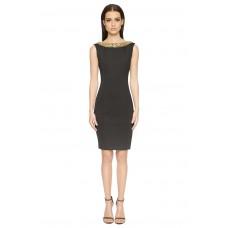 Aloura London Chelsea Neoprene Dress Black