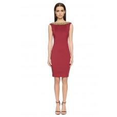 Aloura London Chelsea Neoprene Dress Red