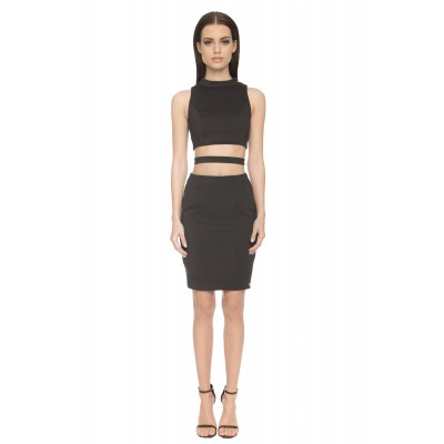 Aloura London Kendal Cutout Dress Black
