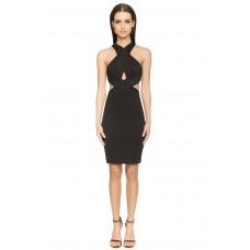 Aloura London Duchess Backless Dress Black