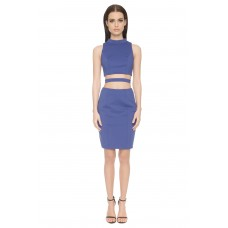 Aloura London Kendal Cutout Dress Blue