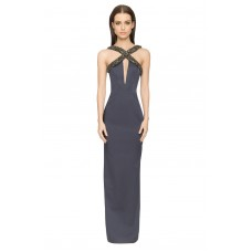 Aloura London Estelle Long Gown Navy