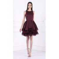 Bronx and Banco Serena Dress Burgundy Red